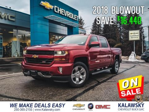 Pre-Owned 2018 Chevrolet Silverado 1500 2LT -- Save $16,440 - Only $327 Bi-weekly 4X4 Crew Cab
